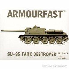 Maquetas: ARMOURFAST - SU-85 TANK DESTROYER 99020 1/72 2 MODELOS POR CAJA . Lote 89105796