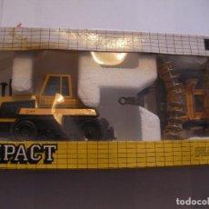 Maquetas: ANTIGUA MAQUETA JOAL MADE IN SPAIN TRACTOR CAT 65 CHALLENGER CON GRADA DE DISCOS. Lote 91049645