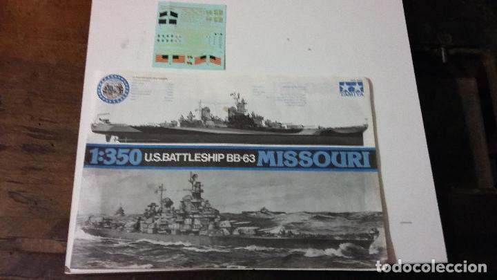 INSTRUCCIONES DE MONTAJE Y CALCAS DEL USS IOWA. TAMIYA 1/350 (Juguetes - Modelismo y Radiocontrol - Maquetas - Barcos)
