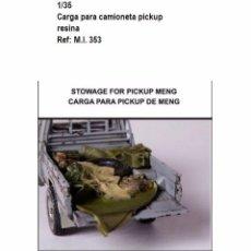 Maquetas: ACCESORIOS RESINA CARGA CAMIONETA PICKUP 1/35. Lote 91964100