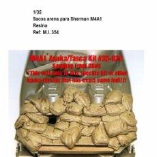 Maquetas: ACCESORIOS RESINA 1/35 SACOS ARENA SHERMAN M4A1 ESTIBA SANDBAG. Lote 91966500