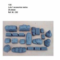 Maquetas: WWII VALUE GEAR 20 ACCESORIOS MODEL BUILDING DETAILS RESINA 1/35 ESTIBA. Lote 92217605