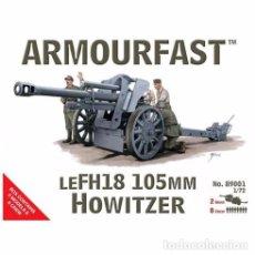Maquetas: ARMOURFAST - LEFH18 105MM HOWITZER 89001 1/72 2 UNIDADES POR CAJA. Lote 93696770