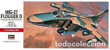 HASEGAWA - MIG-27 FLOGGER D C10 00340 1/72 (Juguetes - Modelismo y Radio Control - Maquetas - Aviones y Helicópteros)