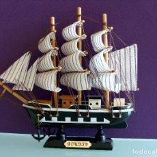 Maquetas: MAQUETA BARCO DE VELA 15X17CM EN MADERA HMS BOUNTY BUQUE DE LA ARMADA BRITANICA 1787. Lote 154035826