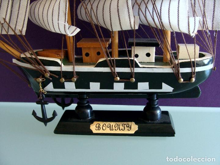 Maquetas: MAQUETA BARCO DE VELA 15X17CM EN MADERA HMS BOUNTY BUQUE DE LA ARMADA BRITANICA 1787 - Foto 2 - 154035826