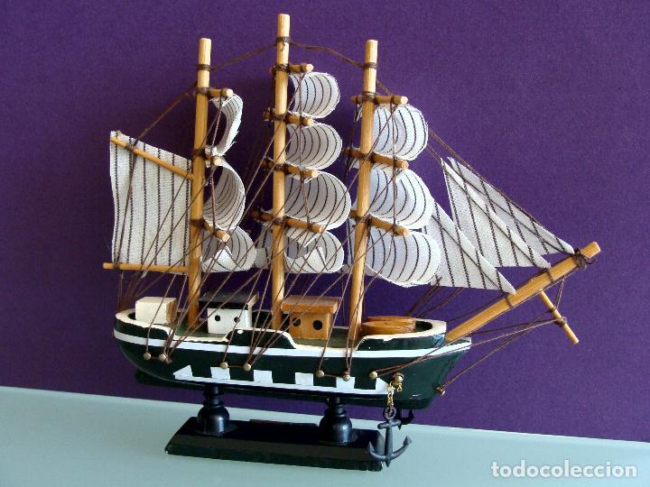 Maquetas: MAQUETA BARCO DE VELA 15X17CM EN MADERA HMS BOUNTY BUQUE DE LA ARMADA BRITANICA 1787 - Foto 3 - 154035826