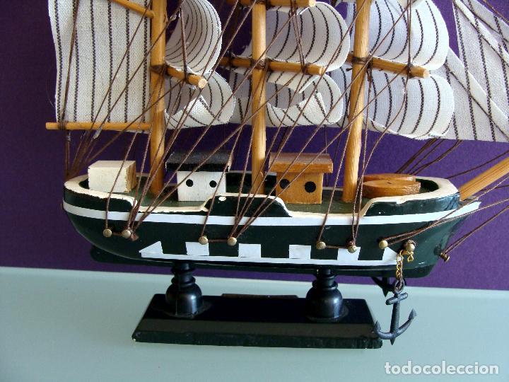 Maquetas: MAQUETA BARCO DE VELA 15X17CM EN MADERA HMS BOUNTY BUQUE DE LA ARMADA BRITANICA 1787 - Foto 4 - 154035826