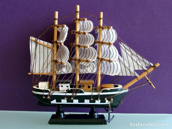 Maquetas: MAQUETA BARCO DE VELA 15X17CM EN MADERA HMS BOUNTY BUQUE DE LA ARMADA BRITANICA 1787 - Foto 5 - 154035826