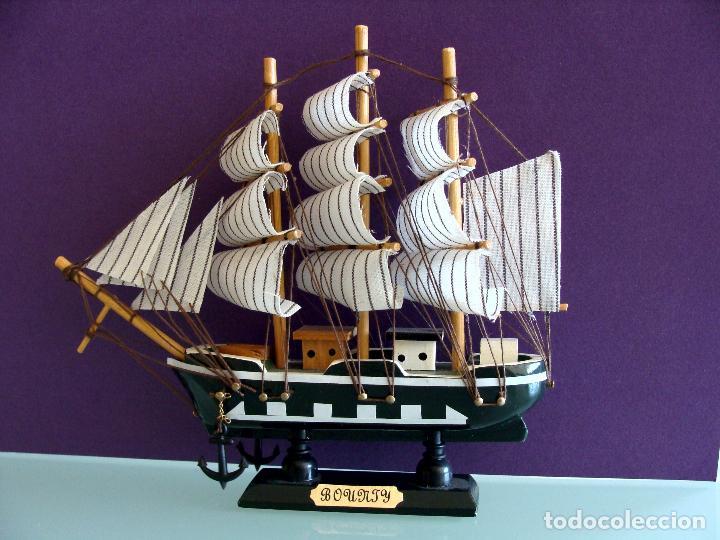 Maquetas: MAQUETA BARCO DE VELA 15X17CM EN MADERA HMS BOUNTY BUQUE DE LA ARMADA BRITANICA 1787 - Foto 6 - 154035826