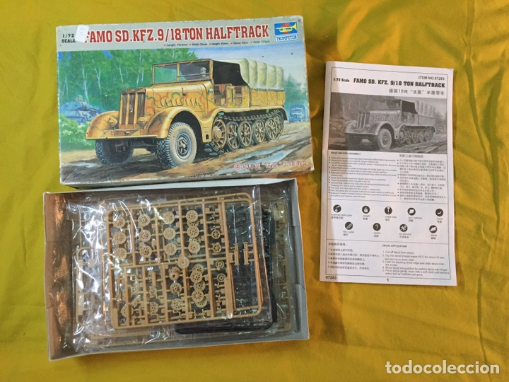Maquetas: Sd.Kfz 9 FAMO 18 Tn. 1:72 TRUMPETER 07203 maqueta carro vehículo camión - Foto 4 - 94185543