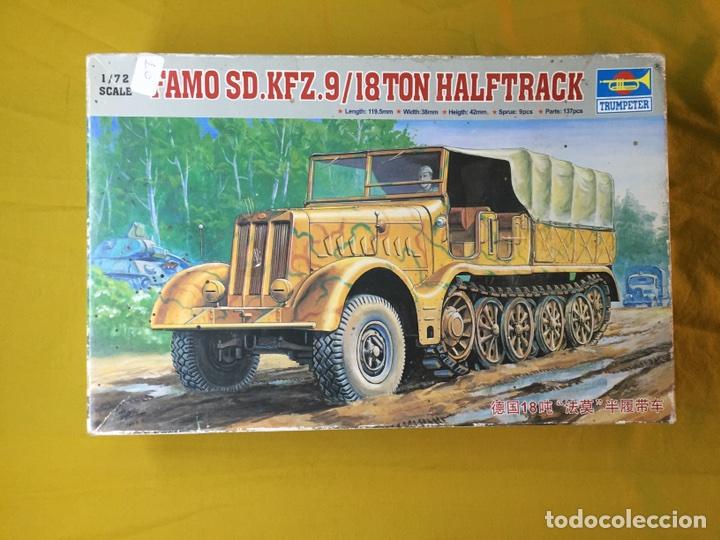 SD.KFZ 9 FAMO 18 TN. 1:72 TRUMPETER 07203 MAQUETA CARRO VEHÍCULO CAMIÓN (Juguetes - Modelismo y Radiocontrol - Maquetas - Militar)