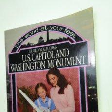 Maquetas: MAQUETA DE CONSTRUCCIÓN EN CARTÓN -CAPITOLIO Y WASHINGTON MONUMENTO- ALAN ROSE - 1981 - NUEVO - USA. Lote 94267325
