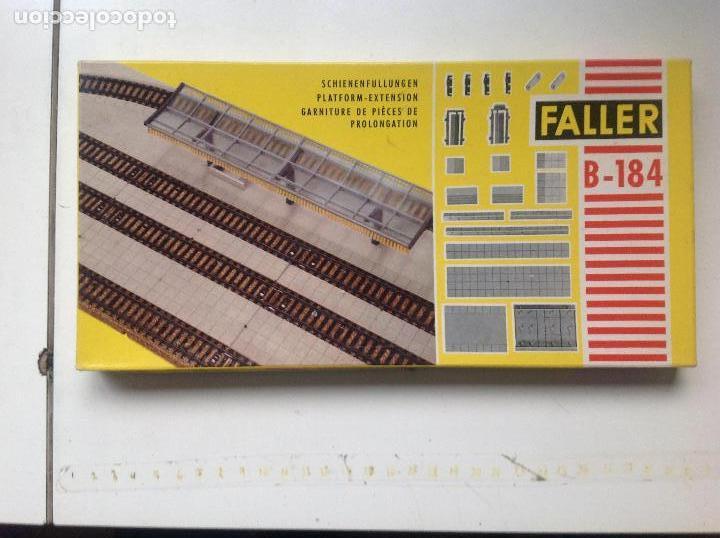 CAJA GEBR. FALLER.PLATFORM-EXTENSION. Nº B-184. FOTO DE CAJA Y CONTENIDO. (Juguetes - Modelismo y Radiocontrol - Maquetas - Construcciones)