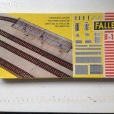 Maquetas: CAJA GEBR. FALLER.PLATFORM-EXTENSION. Nº B-184. FOTO DE CAJA Y CONTENIDO.. Lote 96142531