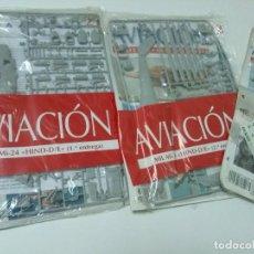 Maquetas: HELICOPTERO MIL MI-24 HIND-D - ITALERI, ESCALA 1/72, LOS TRES BLISTER SIN ABRIR. Lote 96939819