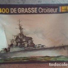 Maquetas: DE GRASSE CROISEUR. HELLER. MAQUETA DE BARCO FRANCESA ESCALA 1/1400 AÑOS 80. CERRADA CON SU FILM. Lote 97092555