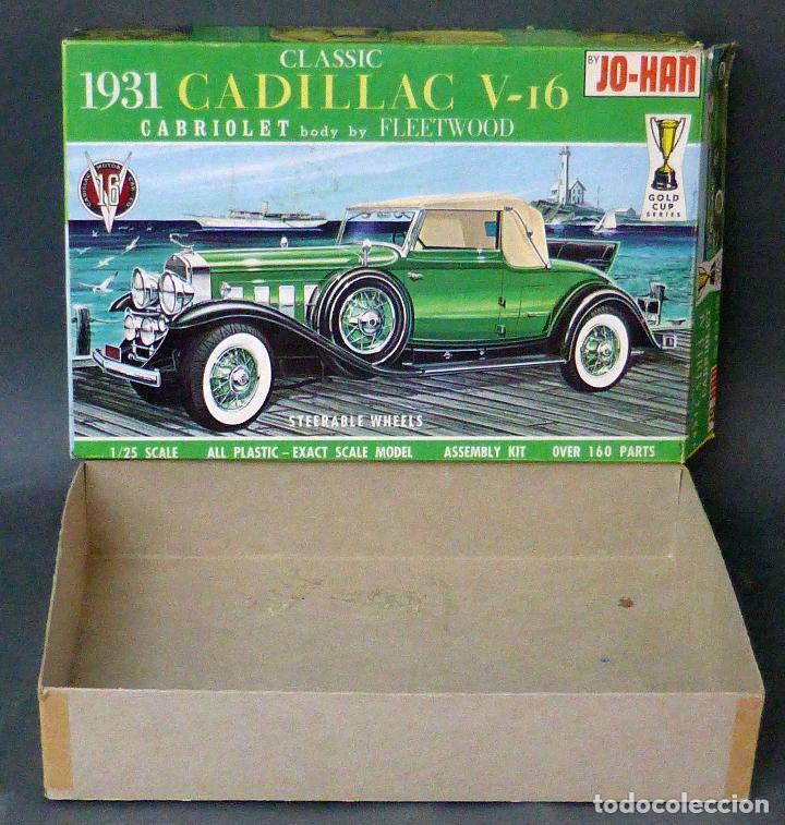 CAJA VACÍA CADILLAC V 16 CLASSIC 1931 JO HAN MADE IN USA (Juguetes - Modelismo y Radiocontrol - Maquetas - Coches y Motos)