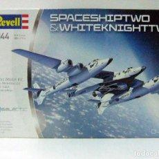 Maquetas: SPACESHIPTWO & WHITEKNIGHTTWO VIRGIN GALACTIC - REVELL ESCALA 1:144 - NAVE ESPACIAL RICHARD BRANSON. Lote 97719571
