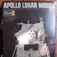 Maquetas: ANTIGUO CAJA KIT APOLLO LUNAR MODULE REVELL ESCALA 1/48 OFICIAL NASA 1969 . ASTRONAUTA NAVE MAQUETA. Lote 97846655