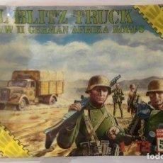 Maquetas: MAQUETA OPEL BLITZ TRUCK WITH II GERMAN AFRIKA KORPS. 1:72. REF. 8611. ESCI, 1988. PRECINTADO. Lote 98052319