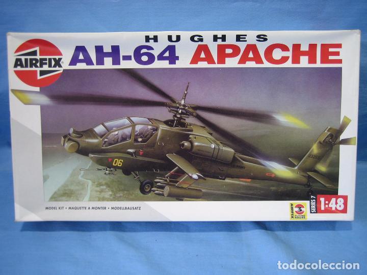MAQUETA DE MONTAJE. HELICÓPTERO AH-64 APACHE HUGHES 1/48 DE AIRFIX 1992 FRANCE (Juguetes - Modelismo y Radio Control - Maquetas - Aviones y Helicópteros)