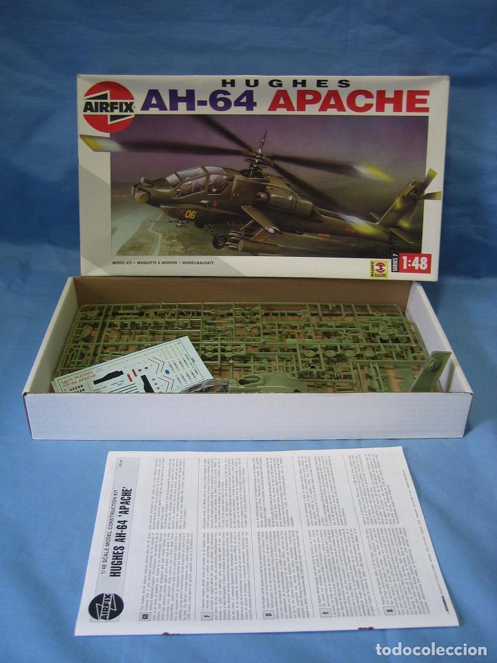 Maquetas: Maqueta de montaje. Helicóptero AH-64 Apache Hughes 1/48 de Airfix 1992 France - Foto 2 - 98168611