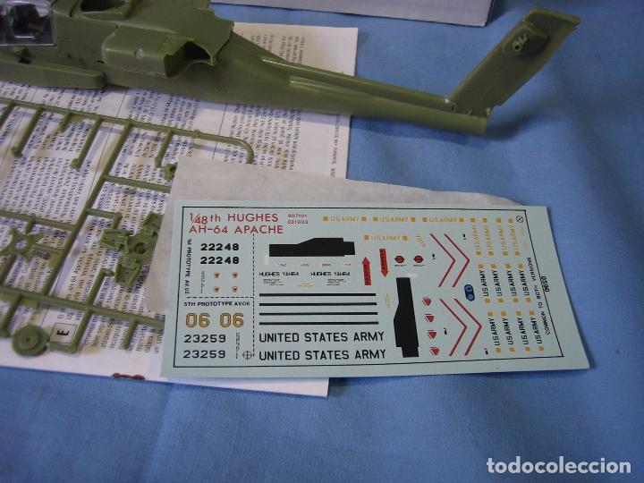 Maquetas: Maqueta de montaje. Helicóptero AH-64 Apache Hughes 1/48 de Airfix 1992 France - Foto 9 - 98168611