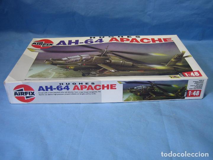 Maquetas: Maqueta de montaje. Helicóptero AH-64 Apache Hughes 1/48 de Airfix 1992 France - Foto 10 - 98168611