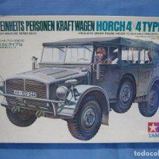 Maquettes: MAQUETA DE MONTAJE. GERMÁN HORCH 4X4 TIPE1A.1/35 DE TAMIYA 1975. Lote 98168955
