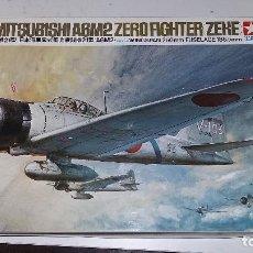 Maquetas: MITSUBISHI A6M2 ZERO FIGHTER, ZEKE. TAMIYA 1/48. Lote 111346700