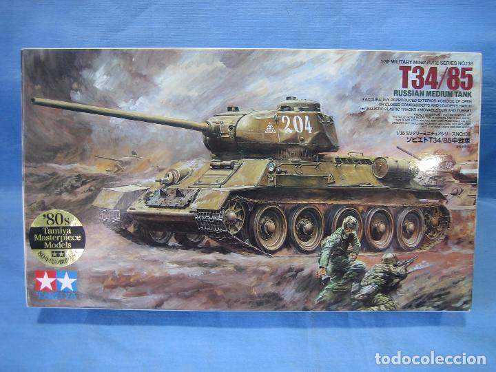 MAQUETA PARA MONTAJE. T-34/85 RUSSIAN MÉDIUM TANK 1/35 DE TAMIYA 1987 (Juguetes - Modelismo y Radiocontrol - Maquetas - Militar)