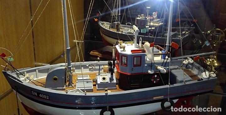 MAQUETA BARCO PESQUERO AÑOS 50 (Juguetes - Modelismo y Radiocontrol - Maquetas - Barcos)