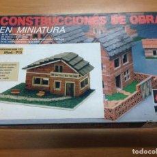 Maquetas: CAJA CONSTRUCCIONES DE OBRA EN MINIATURA MOD P13 NUEVO SIN ESTRENAR . Lote 98964415