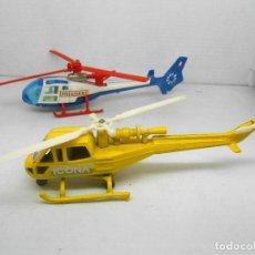 Maquetas: LOTE 2 HELICOPTEROS HELICOPTERO ICONA HELICOPTER MADE IN SPAIN 70`S ALFREEDOM PLANE AIRPLANE. Lote 99446031