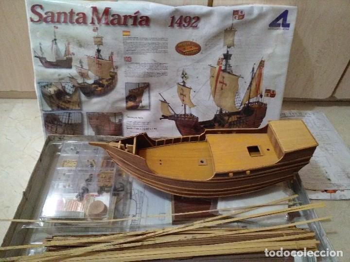 CARABELA DE MADERA, STA MARIA (Juguetes - Modelismo y Radiocontrol - Maquetas - Barcos)