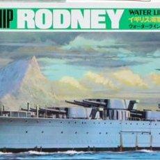 Maquetas: MAQUETA TAMIYA 1/700 HMS RODNEY #102 (77502). Lote 101097959