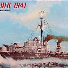 Maquetas: MAQUETA TRUMPETER 1/700 HMS ZULU #05758. Lote 101236939