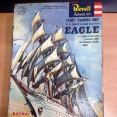 Maquetas: MAQUETA SIN MONTAR BARCO CADET TRAINING SHIP US COAST GUARD CONTROL FABRICADO POR REVELL 1957 . Lote 101301607