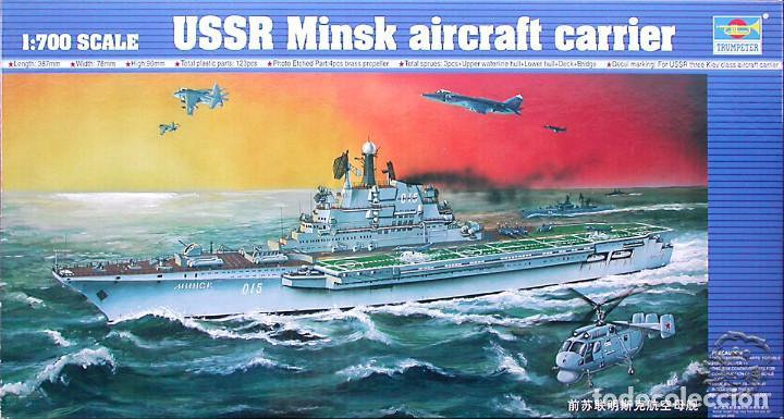 MAQUETA TRUMPETER 1/700 PORTAAVIONES SOVIÉTICO MINSK #05703 (Juguetes - Modelismo y Radiocontrol - Maquetas - Barcos)