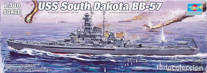 MAQUETA TRUMPETER 1/700 USS SOUTH DAKOTA BB-57 #05743 (Juguetes - Modelismo y Radiocontrol - Maquetas - Barcos)