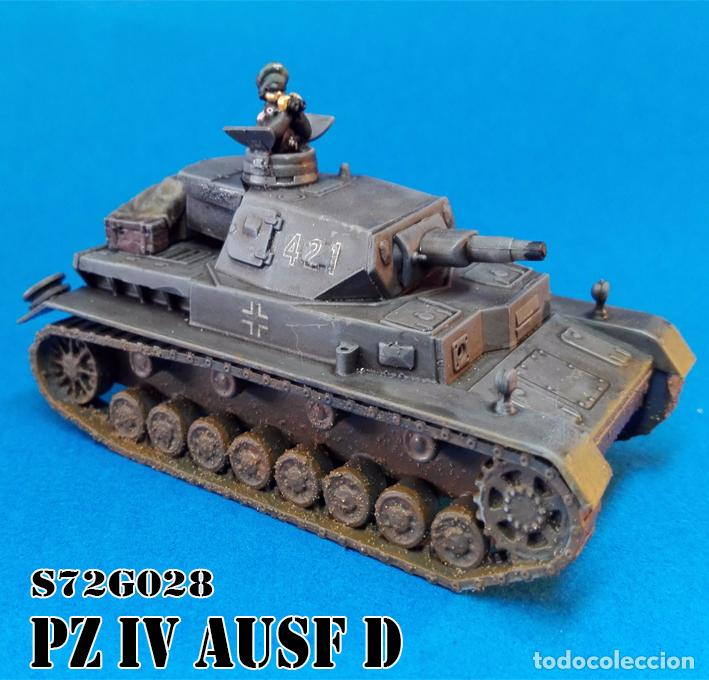 S72g028 panzer iv d scale 1/72 - Sold through Direct Sale