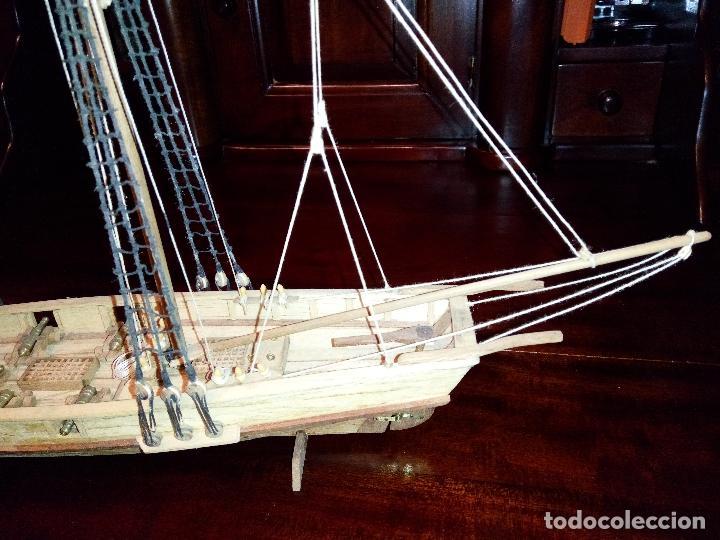 Maquetas: Antigua Maqueta Fragata Americana Madera - Foto 4 - 102547427