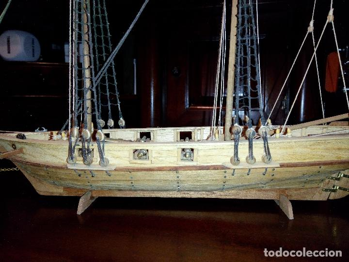 Maquetas: Antigua Maqueta Fragata Americana Madera - Foto 5 - 102547427