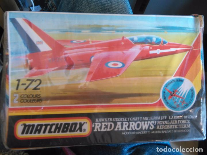 Maquetas: ANTIGUA MAQUETA AVION ESCALA 1-72 MATCHBOX RED ARROWS HS GHAT MK T1 EN CAJA BLISTER SIN ABRIR - Foto 1 - 102780291