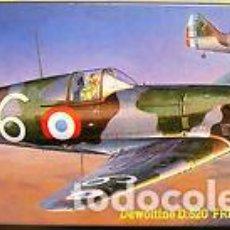 Maquetas: HASEGAWA - DEWOITINE D.520 FRENCH AIR FORCE AP47 51347 1/72. Lote 103090743