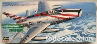HASEGAWA - NORTH AMERICAN ROCKWELL F-1000 SUPER SABRE 611 1/72 (Juguetes - Modelismo y Radio Control - Maquetas - Aviones y Helicópteros)