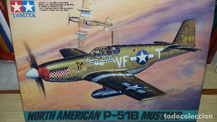 NORTH AMERICAN P-51 B MUSTANG. TAMIYA 1/48 (Juguetes - Modelismo y Radio Control - Maquetas - Aviones y Helicópteros)