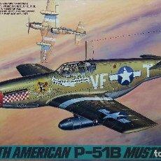 Maquetas: NORTH AMERICAN P-51 B MUSTANG. TAMIYA 1/48. Lote 103493727