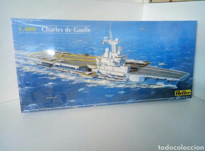 MAQUETA GRANDE CHARLES DE GAULLE HELLER 81072 ESCALA 1:400 (Juguetes - Modelismo y Radiocontrol - Maquetas - Barcos)